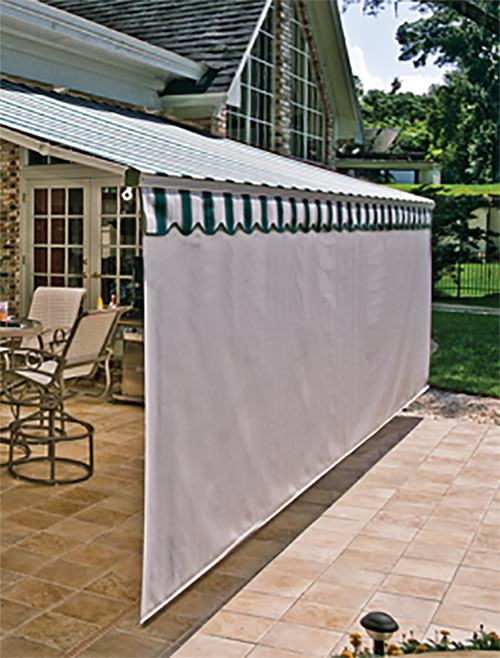 Retractable awnings screens patio awning sunesta for Retractable deck screens