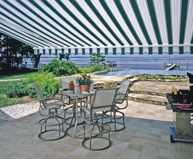 The Retractable Patio Awning by Which Other Shade Products are Measured:  the Sunesta - Retractable Patio Awning, Motorized, Installation Sunesta