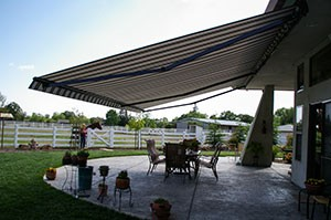 Awning for patio
