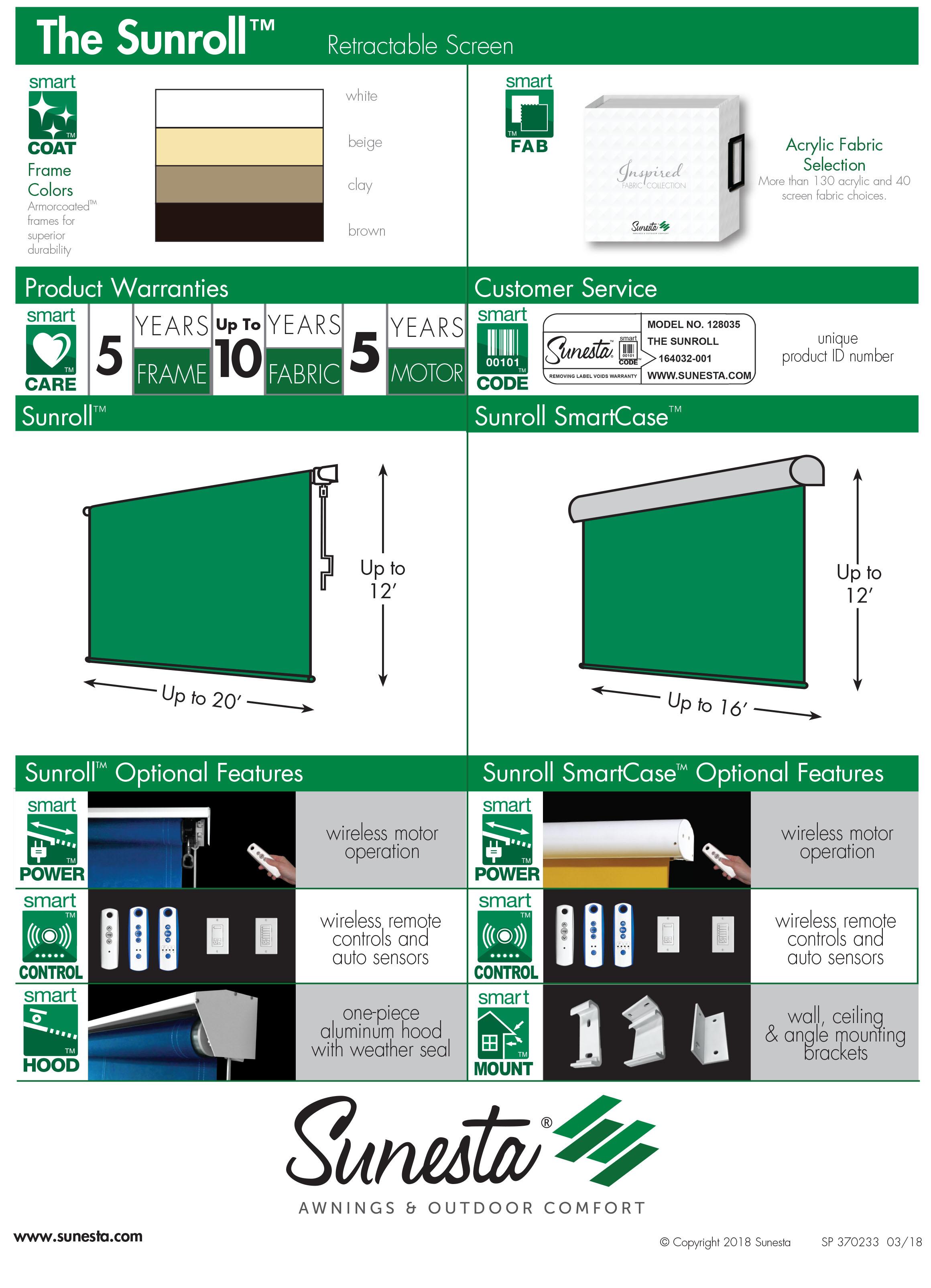 Sunroll Product Information Sheet